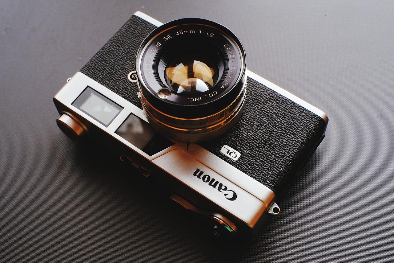 camera, analog, film